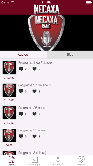 Necaxa Radio Screenshot