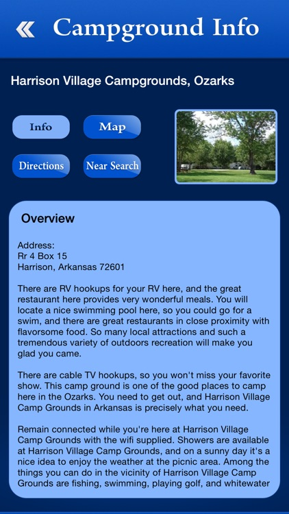 Arkansas Campgrounds and RV Parks screenshot-2