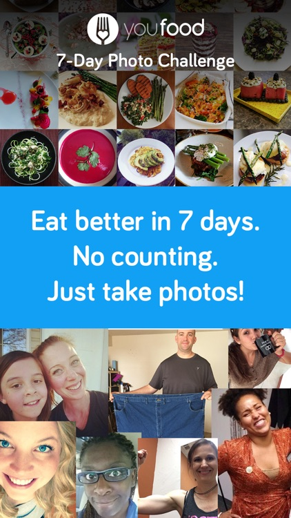 YouFood 7-Day Challenge: Weight Loss Food Journal screenshot-0