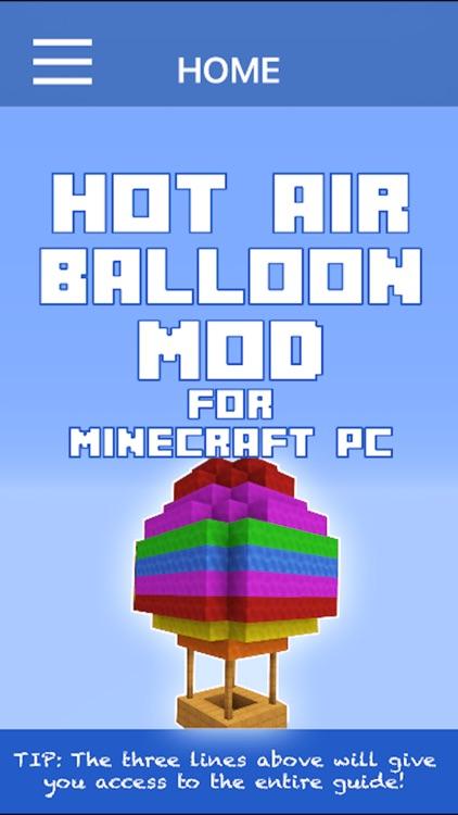 Hot Air Balloon Mod For Minecraft PC