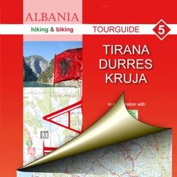 Tirana, Durres, Kruja. Tourist map.
