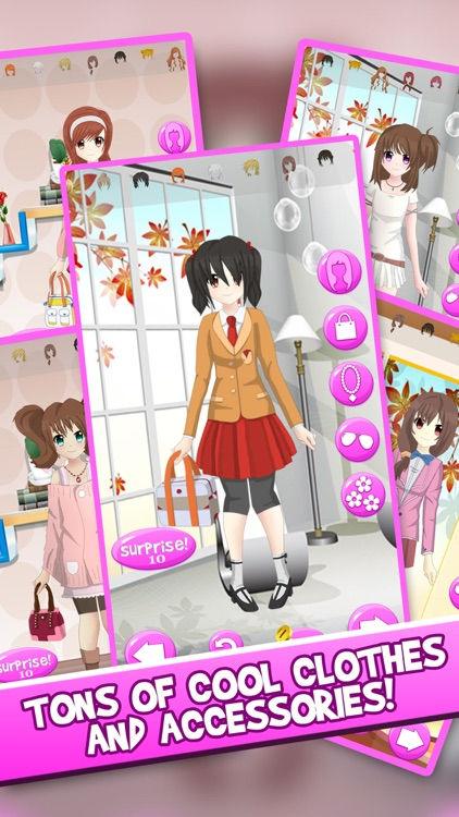 Anime Girl DressUp Chibi Character Games For Girls screenshot-3
