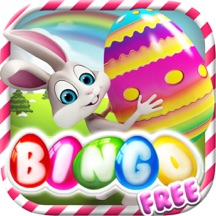 Happy Easter with Bunny and Eggs Bingo Free - Tap the fortune ball to win the lotto prize