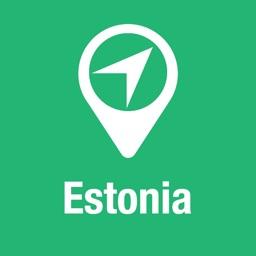 BigGuide Estonia Map + Ultimate Tourist Guide and Offline Voice Navigator
