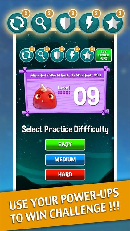 Alien Match 3 Battle : Cute monster ascendance puzzle free games for baby screenshot-3