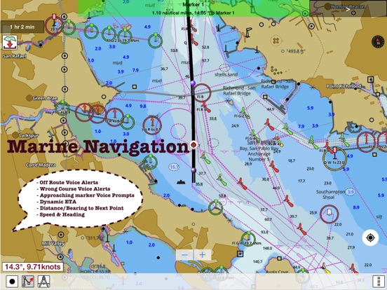 Marine navigation lake depth maps usa offline gps nautical