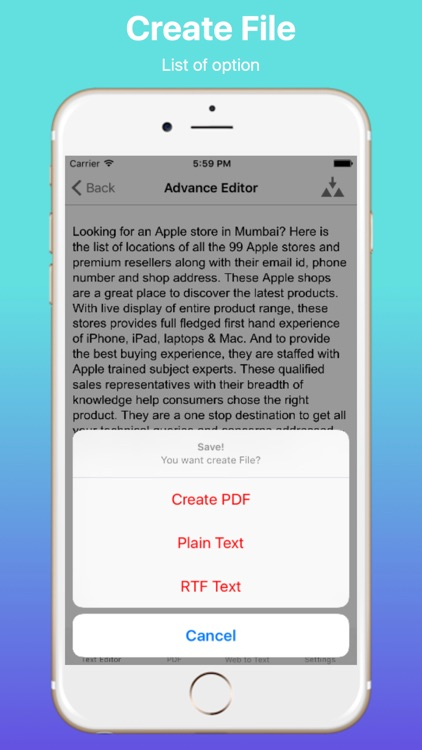 Text and Web to PDF screenshot-3