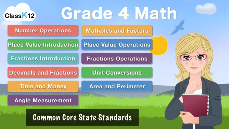4th Grade Math : Common Core State Standards Education Enrichment Game [FULL] screenshot-0