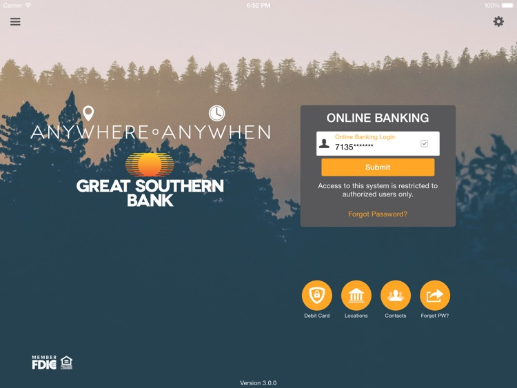 Great Southern Mobile for iPad