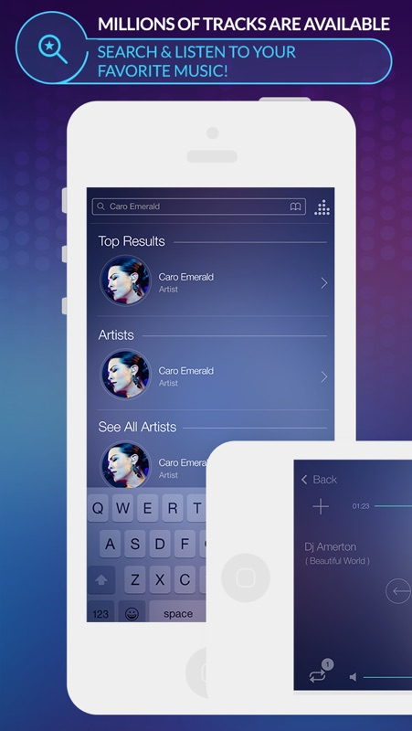 Spoty EQLZR - stream music player with equalizer and lyric