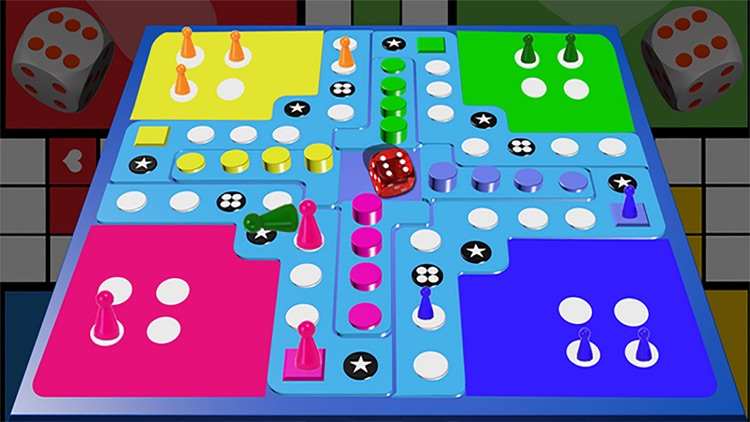 Multiplayer Online Ludo game 3d
