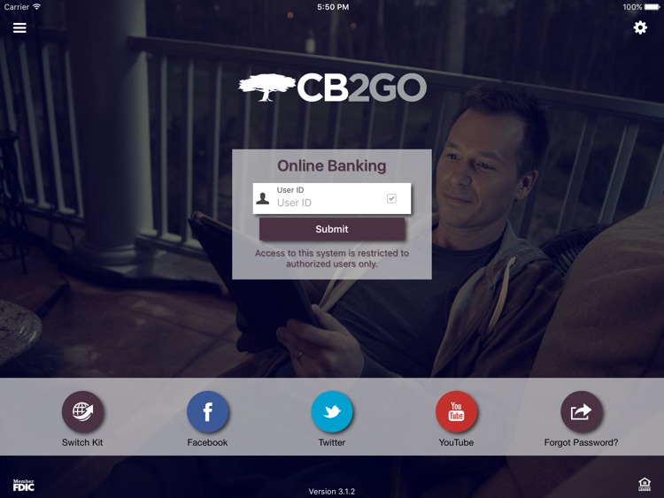 Community Bank's CB2GO for iPad