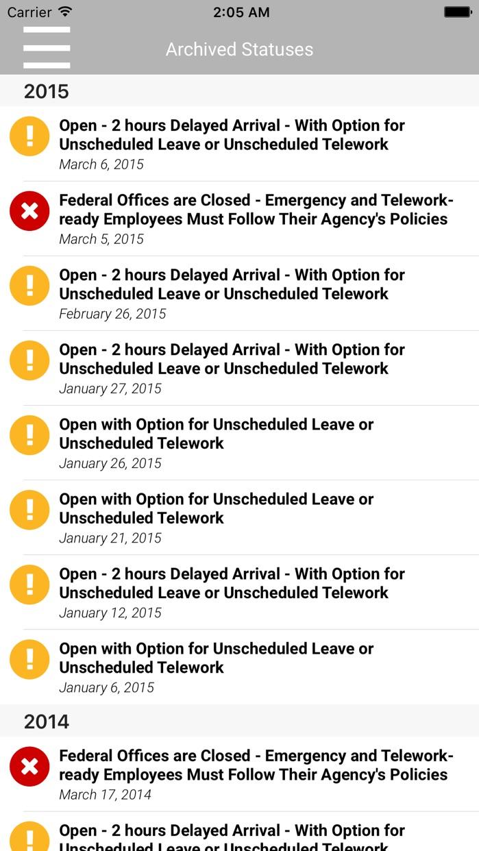 OPM Alert Screenshot
