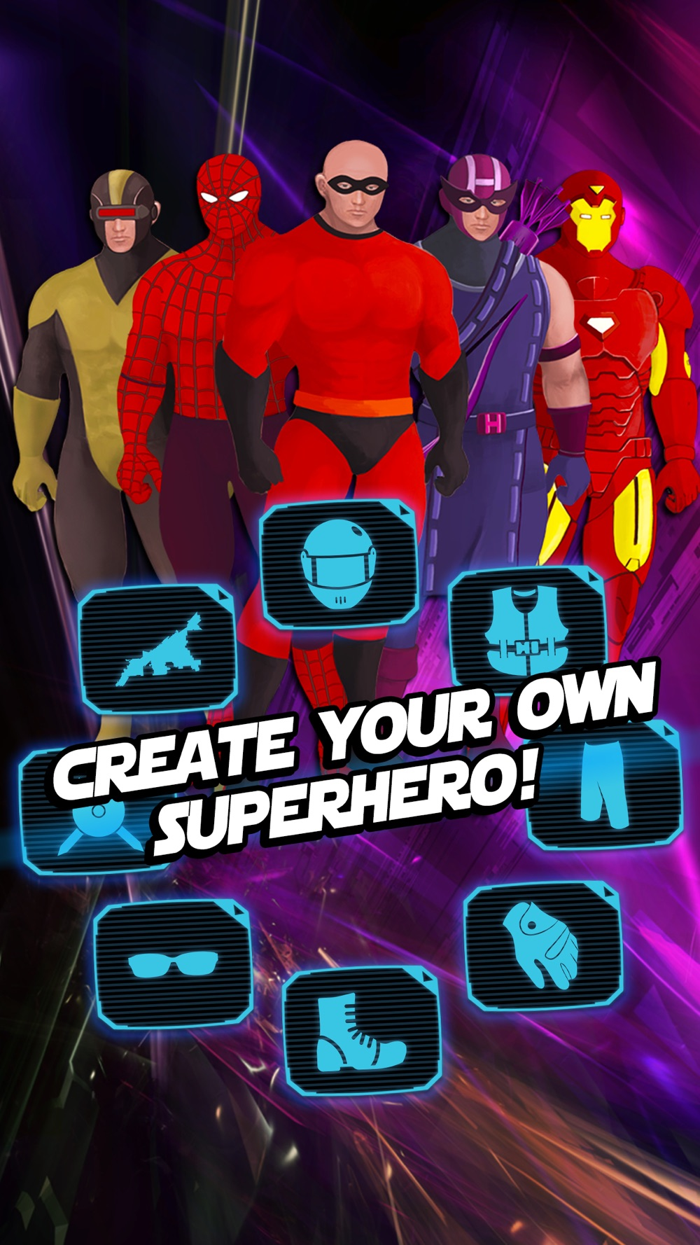 Superhero Creator – Super Hero Character Costume Maker & Dress Up Game for Man FREE Cheat Codes