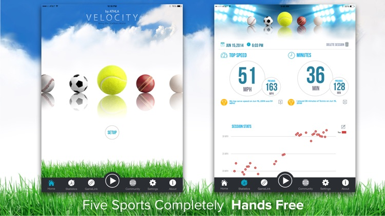 Athla Velocity: Hands-Free Speed Radar for Baseball, Softball, Tennis, Soccer and Cricket (Free) app image