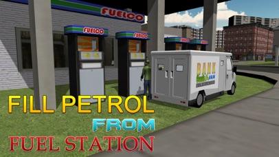 Bank cash van simulator - Transport dollars in money truck simulation game screenshot two