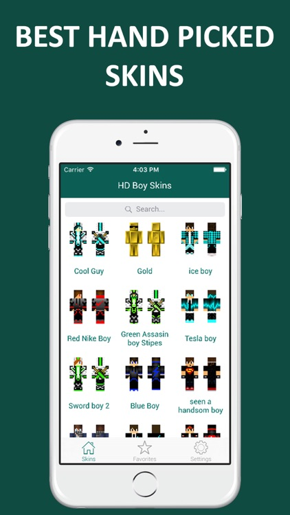 HD Boy Skins - Ultimate Skins for Minecraft Pocket Edition screenshot-0