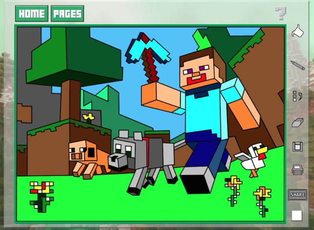 Minecraft Apple Coloring Pages : Quick color for kids minecraft edition on the app store