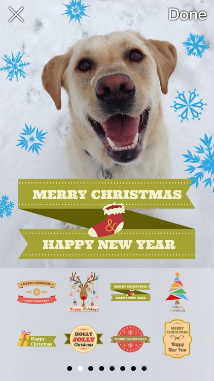 Now That's Christmas: Turn Your Photos Into Holiday Cards With 72 Stickers screenshot-0