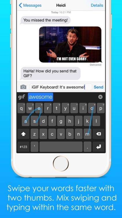 iGIF – Custom Swipe & GIF Keyboards Free screenshot-4