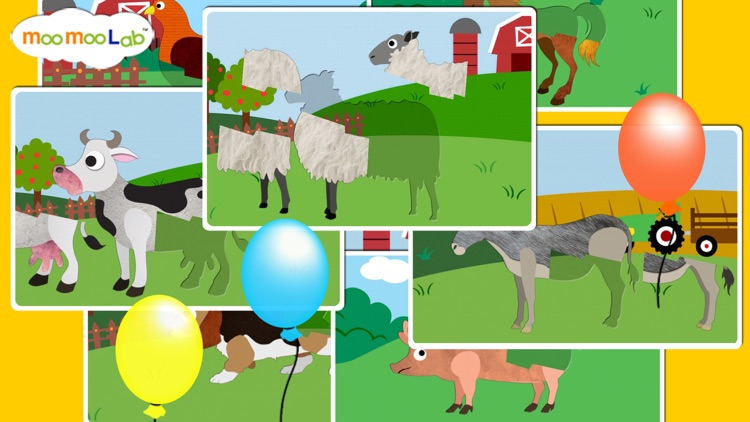 Farm Animals - Barnyard Animal Puzzles, Animal Sounds, and Activities for Toddler and Preschool Kids by Moo Moo Lab screenshot-3