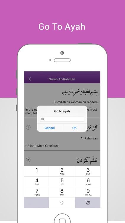 Surah Rahman-With Mp3 Audio And Different Language Translation screenshot-3
