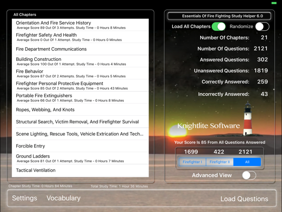Fire Fighter I/II Version 6.0 screenshot one