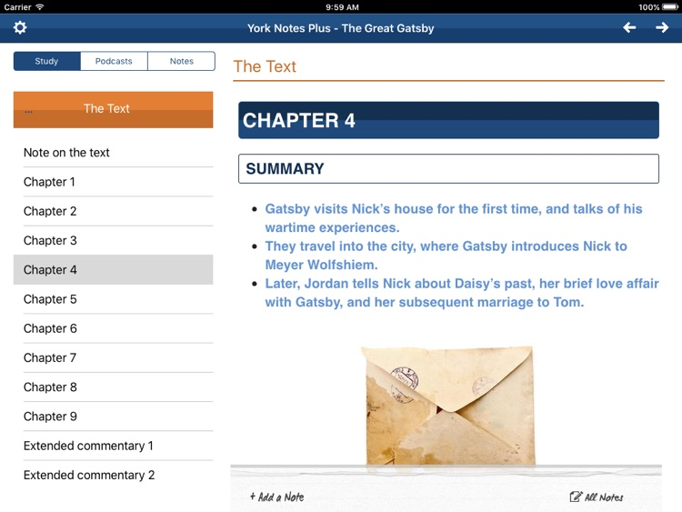 The Great Gatsby York Notes Advanced for iPad