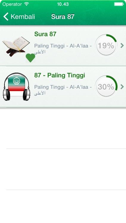 Quran Tajweed Audio mp3 in Arabic, Indonesian and Phonetics