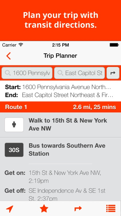 BusTrackDC - real time bus & rail info for DC screenshot-2