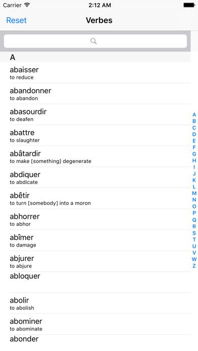 verbes français screenshot one