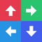 In The Swipr, just follow each step which displays both a color and an arrow