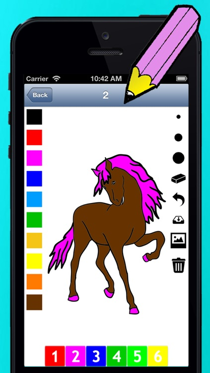 A Coloring Book of Horses for Children: Learn to draw and color screenshot-0