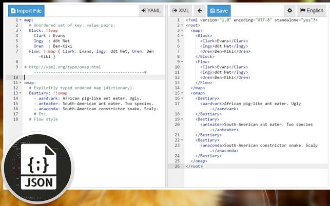 Jet Format Transfer (converter JSON XML YAML CSV INI PLIST