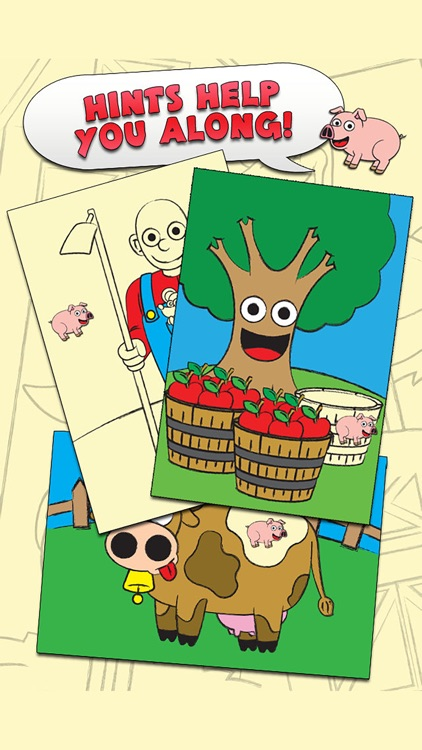 Coloring Farm Animal Coloring Book For Kids Games screenshot-3