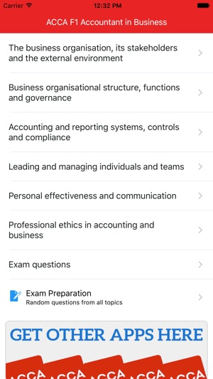 ‎ACCA F1 - Accountant in Business