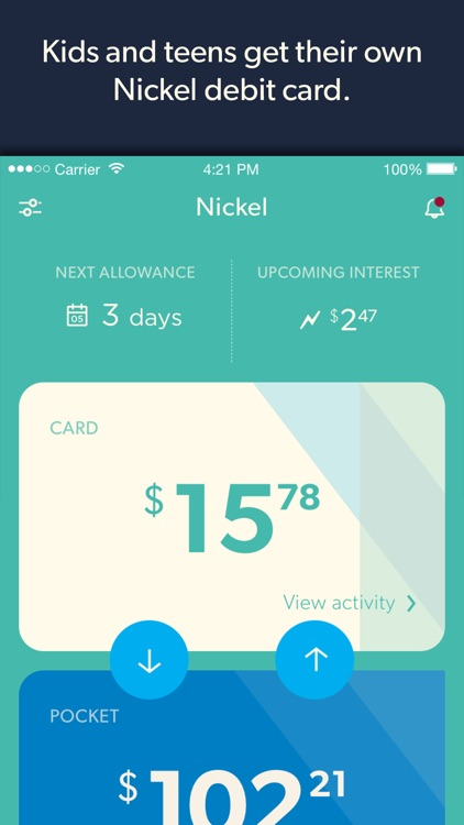 Nickel - The Allowance Manager and MasterCard Prepaid Card