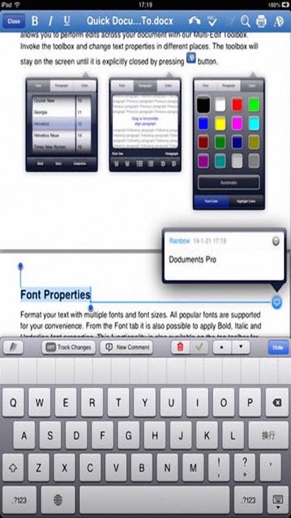 Quick Document - for Microsoft Office Word Processor screenshot-3