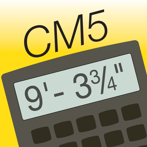 Construction Master 5 -- Feet Inch Fraction Construction Math Calculator for Builders, Contractors, Carpenters, Engineers, Architects and other Building Professionals app logo