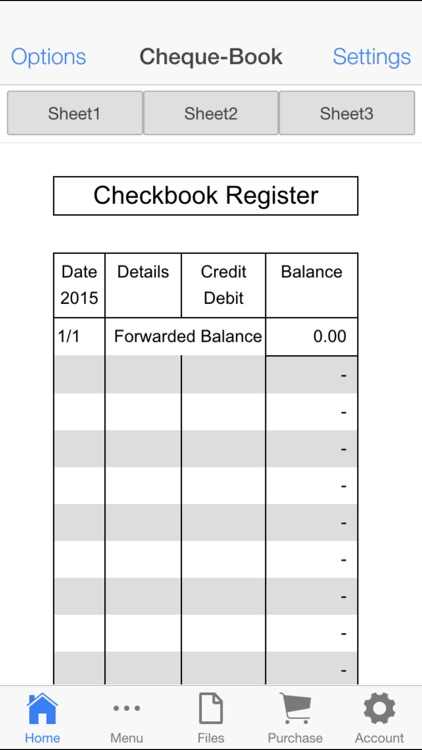 Check Book Register screenshot-1