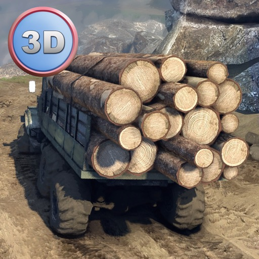Offroad Logging Truck Simulator 3D - Drive and transport cargo!