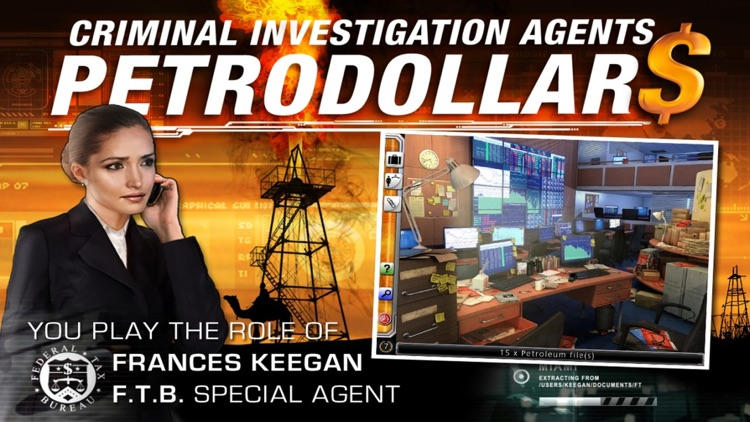 Criminal Investigation Agents  - Petrodollars – A Hidden Object Adventure screenshot-0