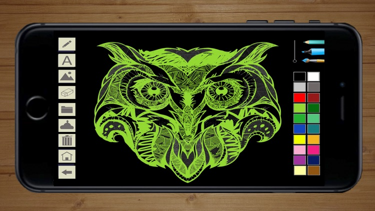 Draw with neon on screen with your finger - Premium