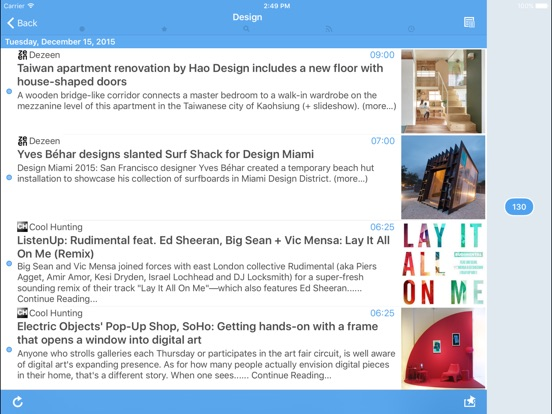 Sylfeed for iPad Screenshot