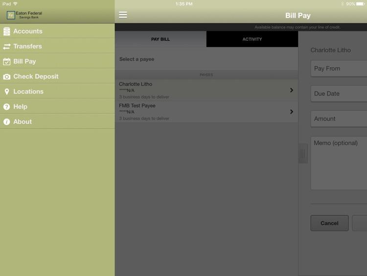 Eaton Federal Savings for iPad screenshot-4