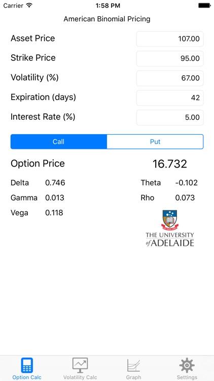 UoA Option Pricer