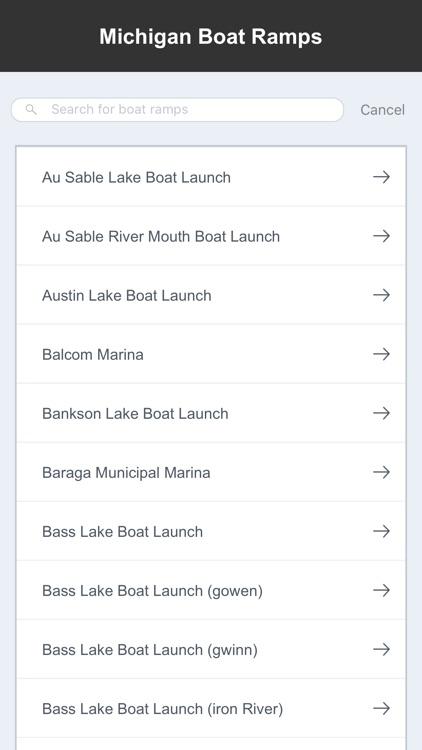 Michigan Boat Ramps & Fishing Ramps