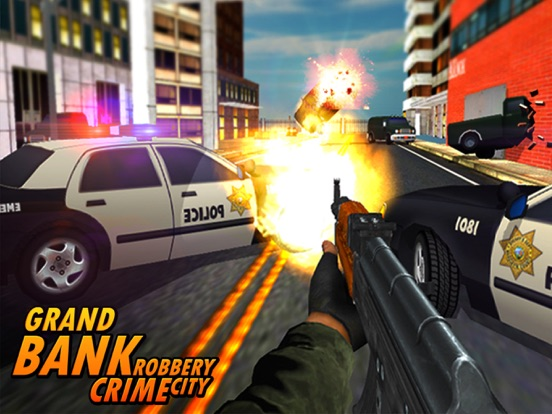 Bank Robbery - crime city police shooting 3D free-ipad-4