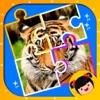 宝宝智力开发游戏-丫丫拼图认动物-幼儿启蒙教育智力拼图免费