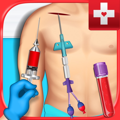 Blood Draw Surgery Doctor - Injection, Central Line & PICC Line Operation Games FREE